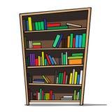 Karikaturillustration eines Bücherregals. lizenzfreie abbildung