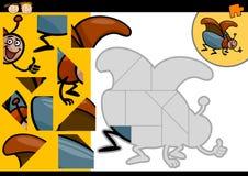 Karikaturkäfer-Laubsägenrätselspiel Stockfotos