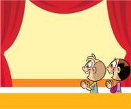 Karikaturkinder im Theater vektor abbildung