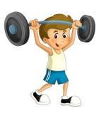 Karikaturkindertraining - Illustration für die Kinder Lizenzfreie Stockbilder