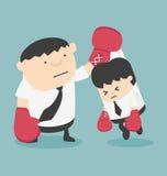 Karikaturkonzepte Wettbewerb Fighting Stockbilder
