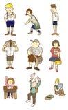 Karikaturkursteilnehmerikone Lizenzfreie Stockfotos