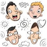 Karikaturlächelnjunge Stockfotos