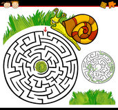 Karikaturlabyrinth oder Labyrinthspiel Lizenzfreie Stockfotos