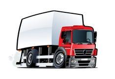 Karikaturlieferung oder Fracht-LKW lokalisiert auf weißem Hintergrund lizenzfreie abbildung