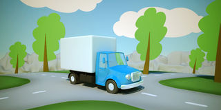 KarikaturLieferwagen Lizenzfreies Stockfoto