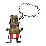 Karikaturmann in den Unterhosen Lizenzfreies Stockfoto