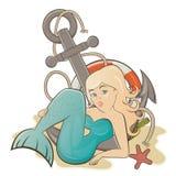 Karikaturmeerjungfrau Stockfoto