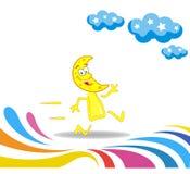 Karikaturmonatsmarathon lizenzfreie abbildung