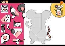 Karikaturmäuselaubsägenrätselspiel Lizenzfreies Stockbild