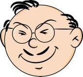 Karikaturonkelgesicht mit dem lächelnden Schnurrbart, Vektorillustration lizenzfreie abbildung