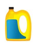 Karikaturplastikflasche für Öl Stockfotografie