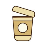 Karikaturplastikschalen-Kaffee Portable Stockfotografie