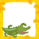 Karikaturrahmenszene - Krokodil Lizenzfreie Stockfotos