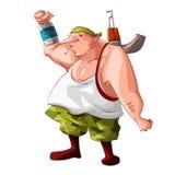 Karikaturrebell-/-Separatistkämpfer Lizenzfreies Stockfoto