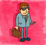Karikaturrechtsanwalt-Ikonenillustration, Vektorikone Stockbilder
