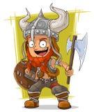 Karikaturrothaarige-Wikinger-Krieger stock abbildung