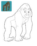 Karikatursafari - Farbtonseite für die Kinder Lizenzfreies Stockbild