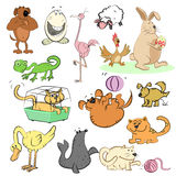 Karikatursatz, Illustration Lizenzfreie Stockfotos