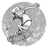 Karikaturschlittschuhläuferjunge Stockfotos