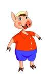 Karikaturschwein Stockbild