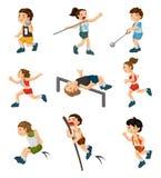 Karikaturspielspieler Stockbilder
