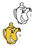 Karikaturteekanne Stockbild