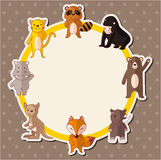Karikaturtier-Tierkarte Lizenzfreie Stockfotografie