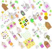 Karikaturtiere 02 Lizenzfreies Stockbild