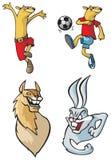 Karikaturtiere Lizenzfreies Stockbild