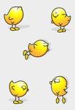Karikaturvögel Stockbild