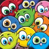Karikaturvögel Stockbilder