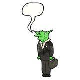 Karikaturvampirsrechtsanwalt Lizenzfreies Stockfoto