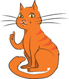 Karikaturvektorillustration der Katze Lizenzfreies Stockfoto
