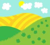 Ostern- oder Frühlingsnaturhintergrundschablone stock abbildung