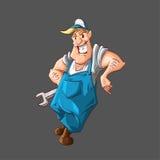 Karikaturvektorklempner oder -mechaniker Stockbild