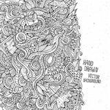 Karikaturvektormode kritzelt die gezeichnete Hand Stockfotos
