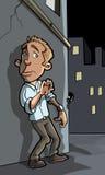 Karikaturverbrechen ungefähr zu geschehen Lizenzfreie Stockbilder