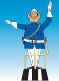 KarikaturVerkehrspolizist Stockbild