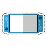 Karikaturvideospiel-Konsole Portable Stockfotos