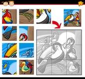 Karikaturvogel-Laubsägenrätselspiel Lizenzfreie Stockbilder