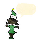 Karikaturweihnachtselfenmädchen Lizenzfreie Stockfotografie