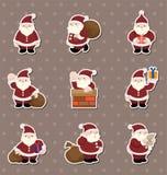 Karikaturweihnachtsmann-Weihnachtsaufkleber Stockbilder