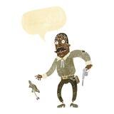 Karikaturwilder Westcowboy mit Spracheblase Stockbilder