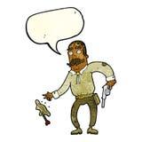 Karikaturwilder Westcowboy mit Spracheblase Lizenzfreie Stockfotografie