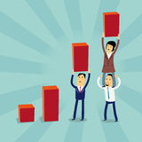 Karikaturwirtschaftler Wachstums-Konzept stock abbildung