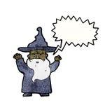 Karikaturzauberer-Castingbann Lizenzfreie Stockfotos