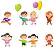 Karikaturzeichnungen von Kindern Lizenzfreie Stockbilder