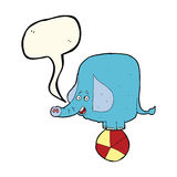 Karikaturzirkuselefant mit Spracheblase Lizenzfreies Stockbild