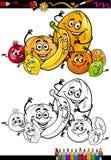 Karikaturzitrusfrüchte für Malbuch Stockfotos